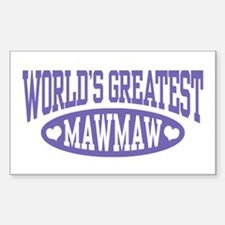 World's Greatest MawMaw Decal