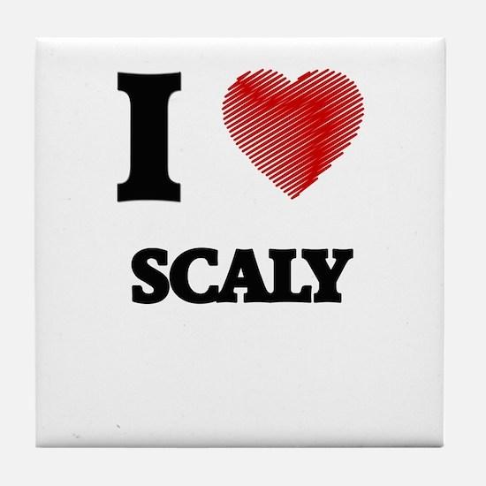 I Love Scaly Tile Coaster