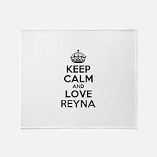Keep Calm and Love REYNA Throw Blanket