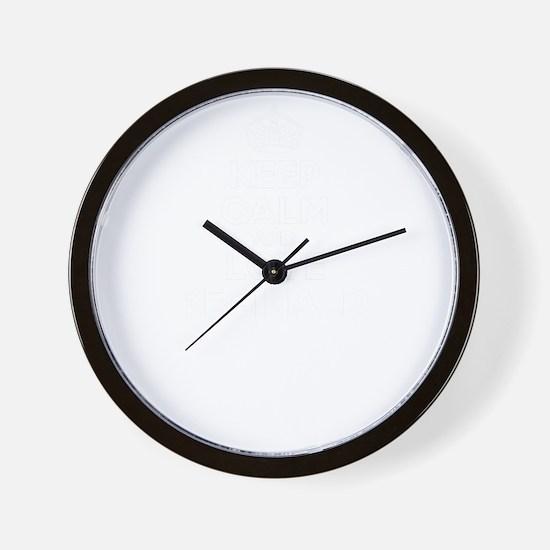 Keep Calm and Love REGINALD Wall Clock