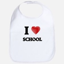 I Love School Bib