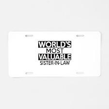 World's Most Valuable Siste Aluminum License Plate