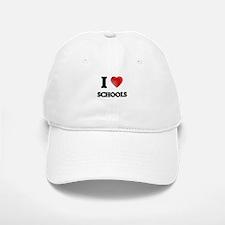I Love Schools Baseball Baseball Cap