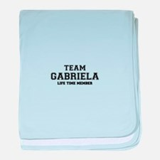 Team GABRIELA, life time member baby blanket