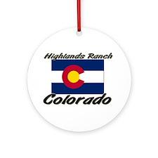 Highlands Ranch Colorado Ornament (Round)