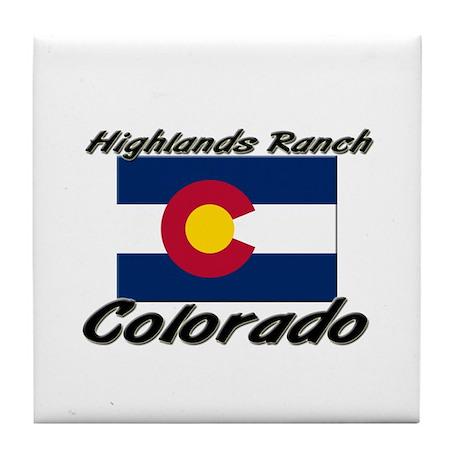 Highlands Ranch Colorado Tile Coaster