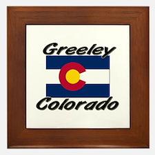 Greeley Colorado Framed Tile