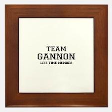 Team GANNON, life time member Framed Tile