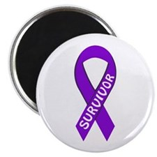 Survivor Purple Ribbon Magnet