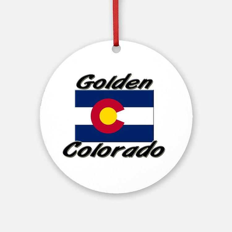 Golden Colorado Ornament (Round)