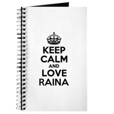 Keep Calm and Love RAINA Journal