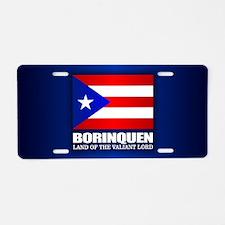 Funny Borinquen Aluminum License Plate