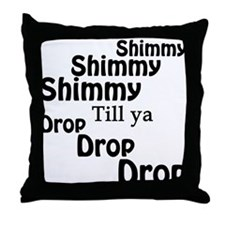 Shimmy Shop Throw Pillow