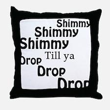 Shimmy Shop Throw Pillow