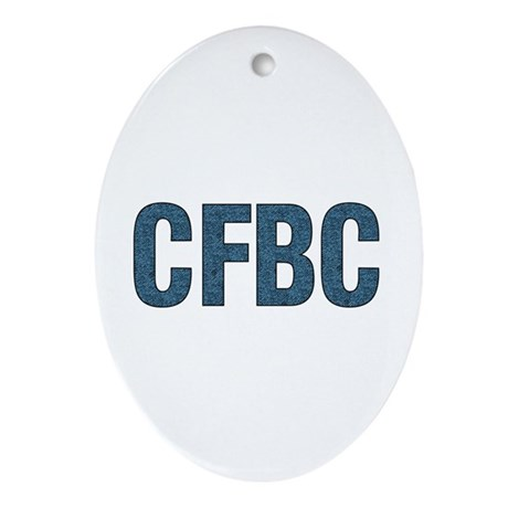 cfbc blue logo oval ornament by ursinelogic