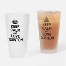Keep Calm and Love QUINTON Drinking Glass