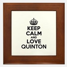 Keep Calm and Love QUINTON Framed Tile