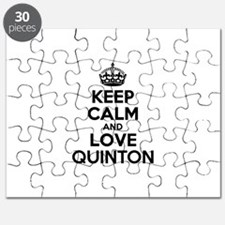 Keep Calm and Love QUINTON Puzzle