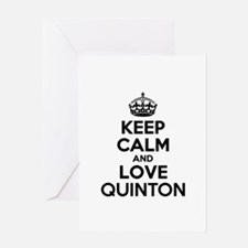 Keep Calm and Love QUINTON Greeting Cards