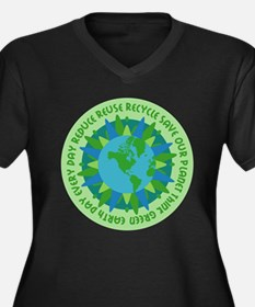 Earth Day Slogans Plus Size T-Shirt