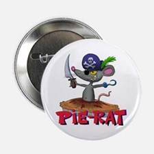"""Pie-rat pirate 2.25"""" Button (10 pack)"""