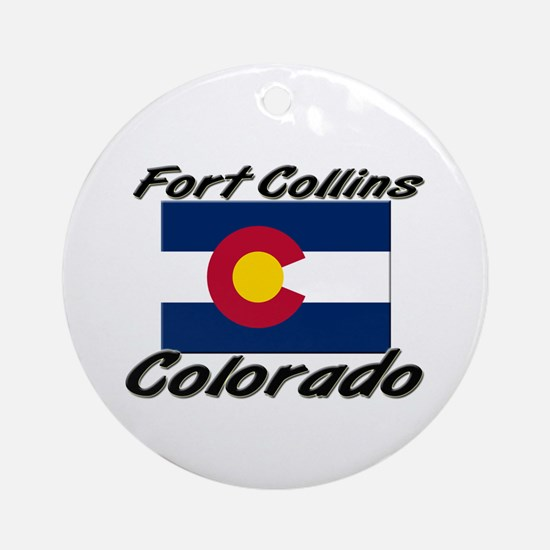 Fort Collins Colorado Ornament (Round)