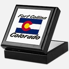 Fort Collins Colorado Keepsake Box