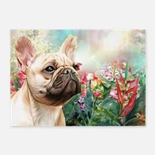 French Bulldog Painting 5'x7'Area Rug