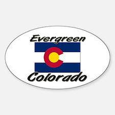 Evergreen Colorado Oval Decal