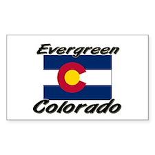 Evergreen Colorado Rectangle Decal