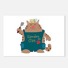 Garden Cat Postcards (Package of 8)