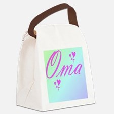 Funny Oma Canvas Lunch Bag
