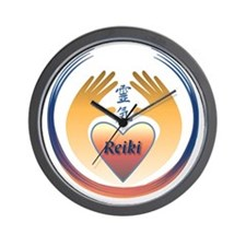 Reiki Hands and Heart Wall Clock