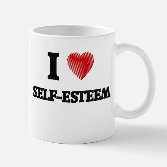I Love Self-Esteem Mugs