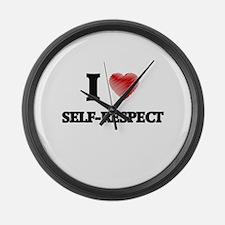 I Love Self-Respect Large Wall Clock