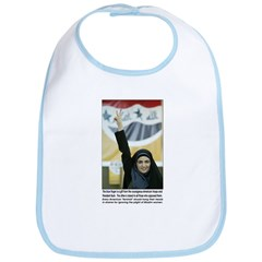 Purple finger Iraqi Arab woman Bib