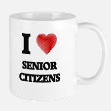 I Love Senior Citizens Mugs
