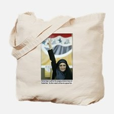 Blue Ink Iraqi Arab Woman Voting Tote Bag