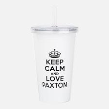 Keep Calm and Love PAX Acrylic Double-wall Tumbler
