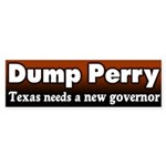 Dump Rick Perry Bumper Sticker
