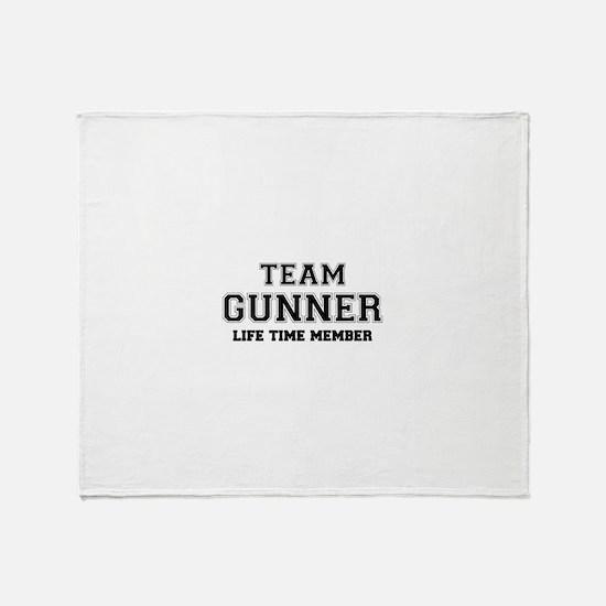 Team GUNNER, life time member Throw Blanket