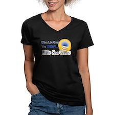 Make Sno-Cones Women's V-Neck Grey T-Shirt