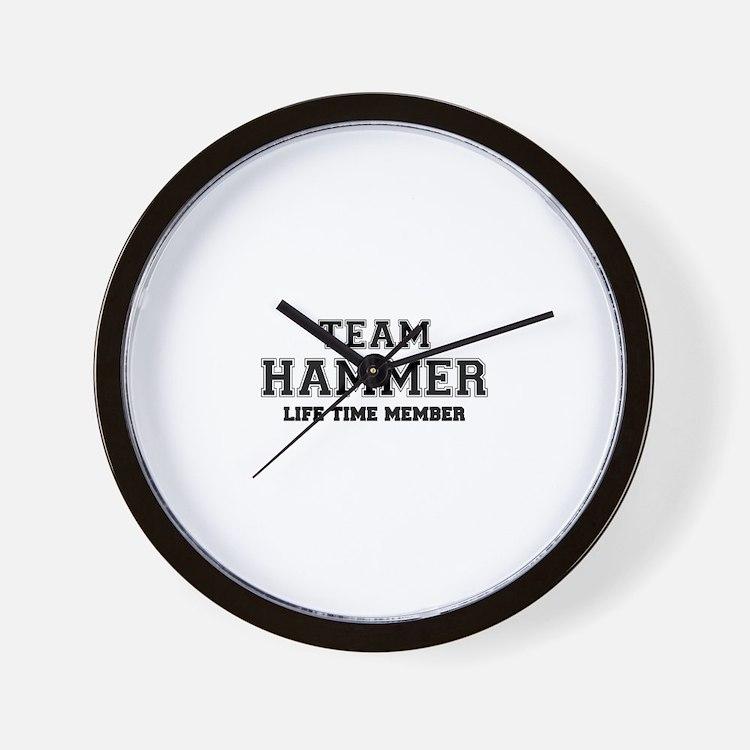 Team HAMMER, life time member Wall Clock