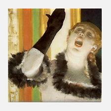 Degas Singer Tile Coaster