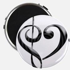 Small Music Heart Magnets