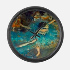 Degas Blue Dancer Large Wall Clock