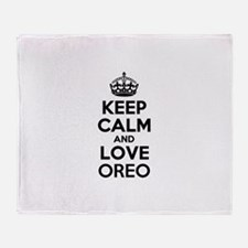 Keep Calm and Love OREO Throw Blanket