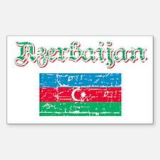 Azerbaijani flag Rectangle Decal