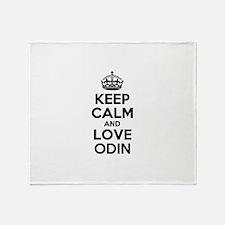 Keep Calm and Love ODIN Throw Blanket