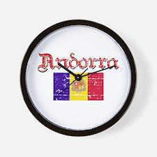 Andorran Flag Wall Clock